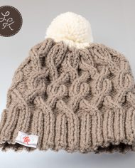 Khaki_hat_with_a_white_pompom