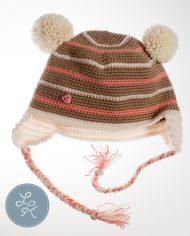 Детская шапка с двумя помпонами «Крем-брюле»