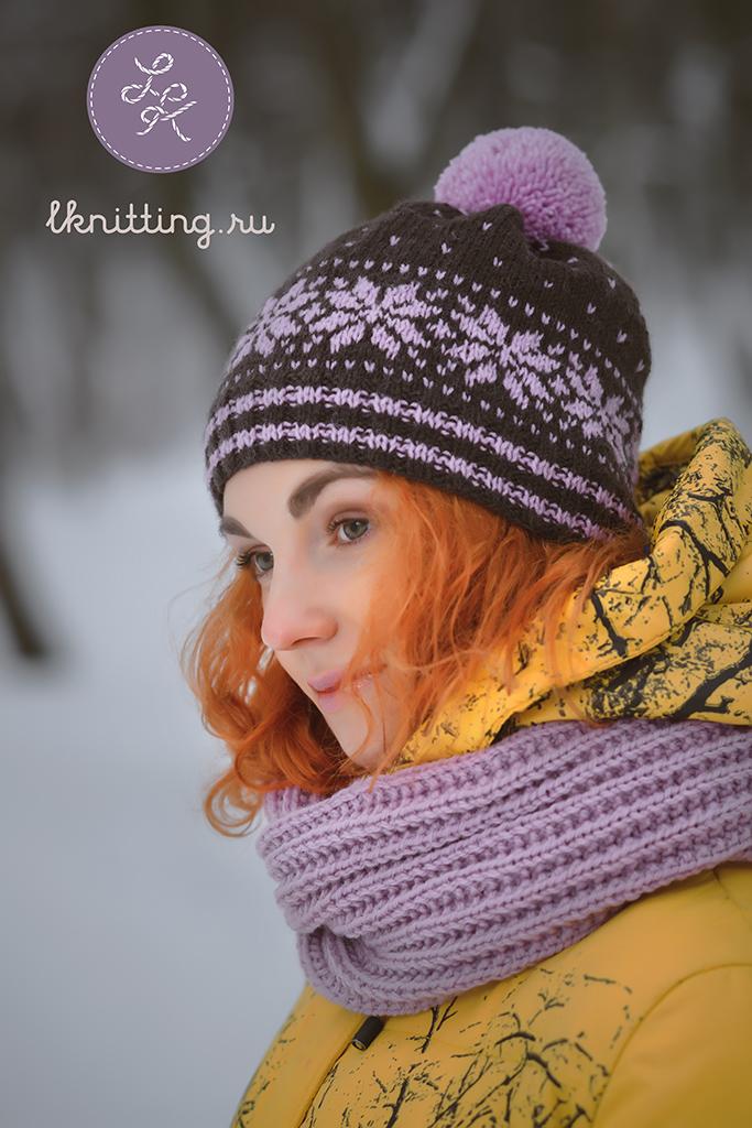 Узоры на вязанных шапочках