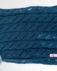 Ажурный мохеровый шарф-хомут