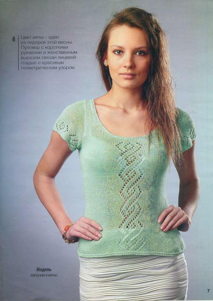 Вязание спицами летних кофточек с коротким рукавом спицами